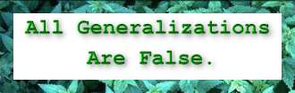 all generalizations are false